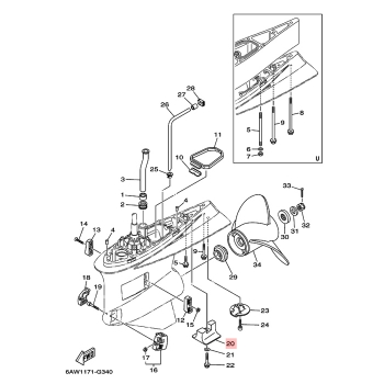 Анод за двигател Yamaha 6AW453730000