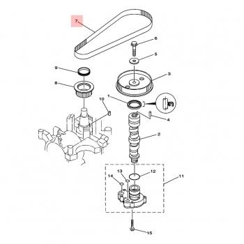 Ангренажен ремък за извънбордови двигатели Yamaha
