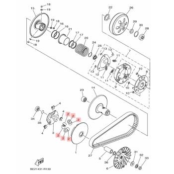 Ролки за вариатор Yamaha BB8E76320000