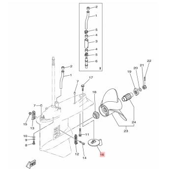 Анод за двигател Yamaha 6J9453710100