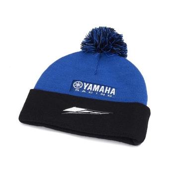 Плетена зимна шапка Yamaha Paddock Blue Bobble Beanie 2018 - N18FH303E100