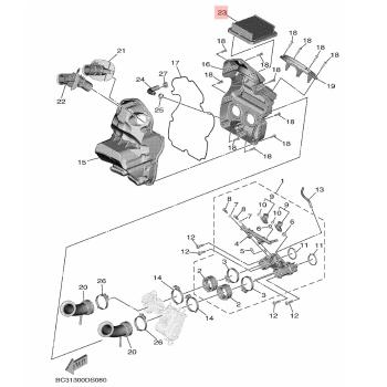 Въздушен филтър Yamaha BC3144510000