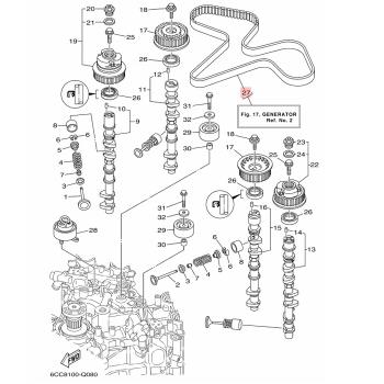 Ангренажен ремък Yamaha 6CBW46240000