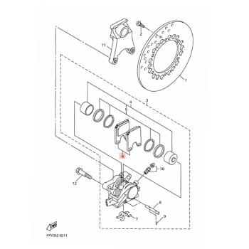 Задни накладки Yamaha 5FLW00465000